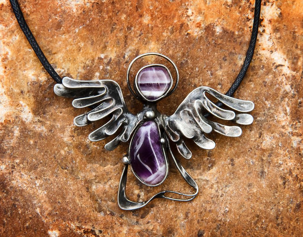 Šperky - Přívěšek Anděl - Ametyst